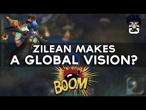 ZILEAN MAKES A GLOBAL VISSION? BUG? LOL PRACTICE TOOL