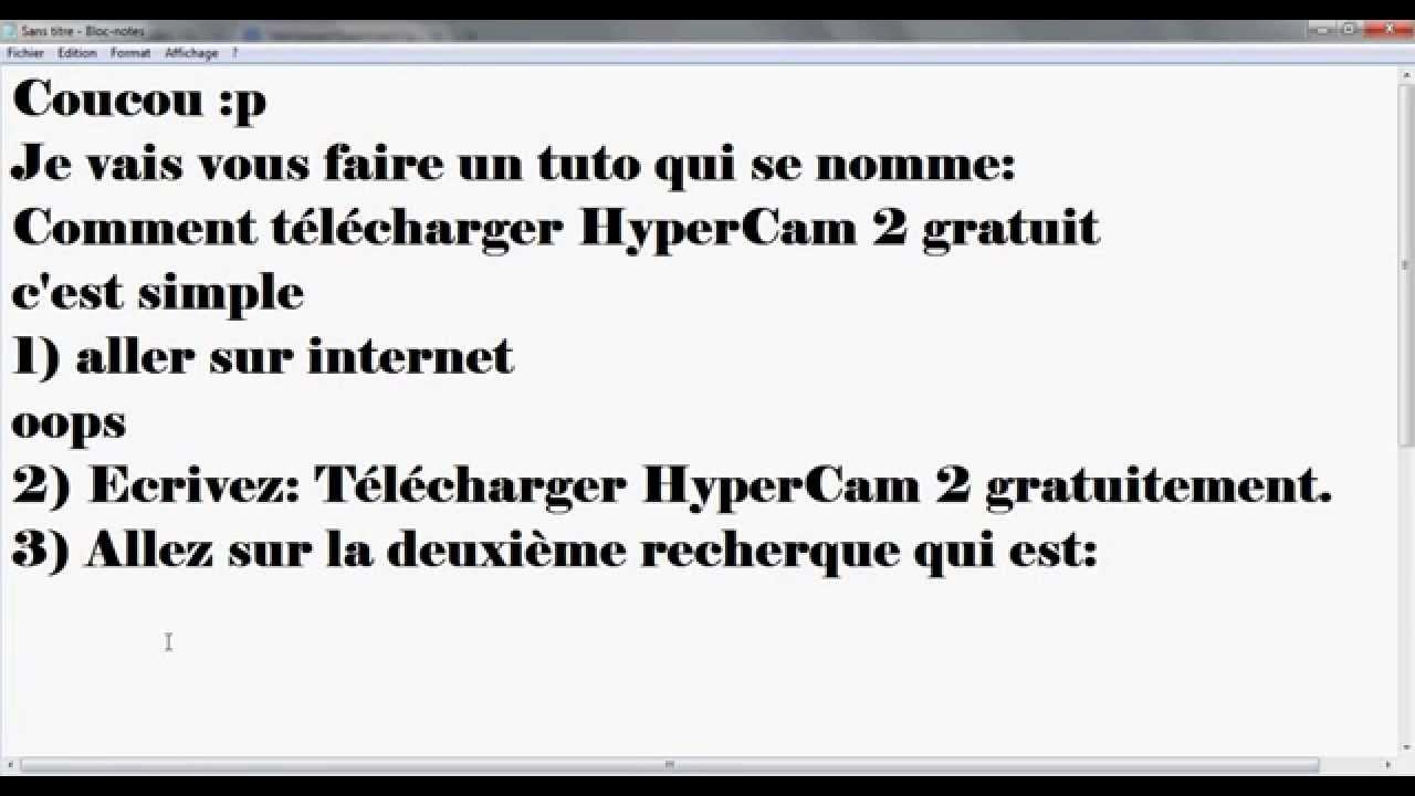 TÉLÉCHARGER HYPERCAM 2 GRATUITEMENT
