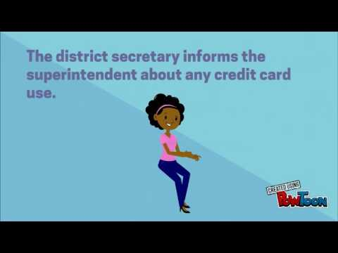 Proper Use of School Credit Cards