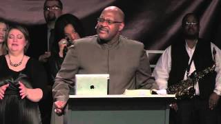 Marvin Winans sings a little snippet of draw me close to you/thy will be done at his sisters church