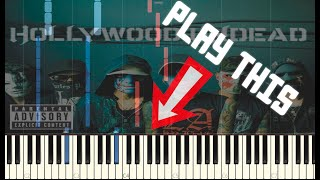 Hollywood undead - Pain | Piano cover | Tutorial | MIDI | Play this