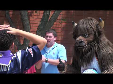 Oklahoma City Thunder Mascot Rumble Visits City Arts Center Summer Camp
