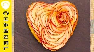ハートアップルローズパイ♡ Heart Apple Rose Pie ♡