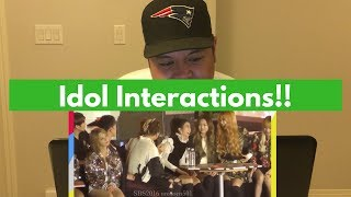 Funny Kpop Idol Interactions REACTION!!!