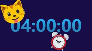 HẸN GIỜ 4 giờ (đếm ngược) với 15 phút LOUD ALARM ⏱⏱ @TimerClockAlarm screenshot 5
