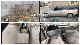 Deep Cleaning a 20 Year Old Convertible Mercedes | Complete Interior Detail!