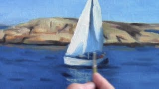 Oil Painting of a Sailboat Part 3
