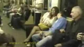 Girl at the Moscow subway