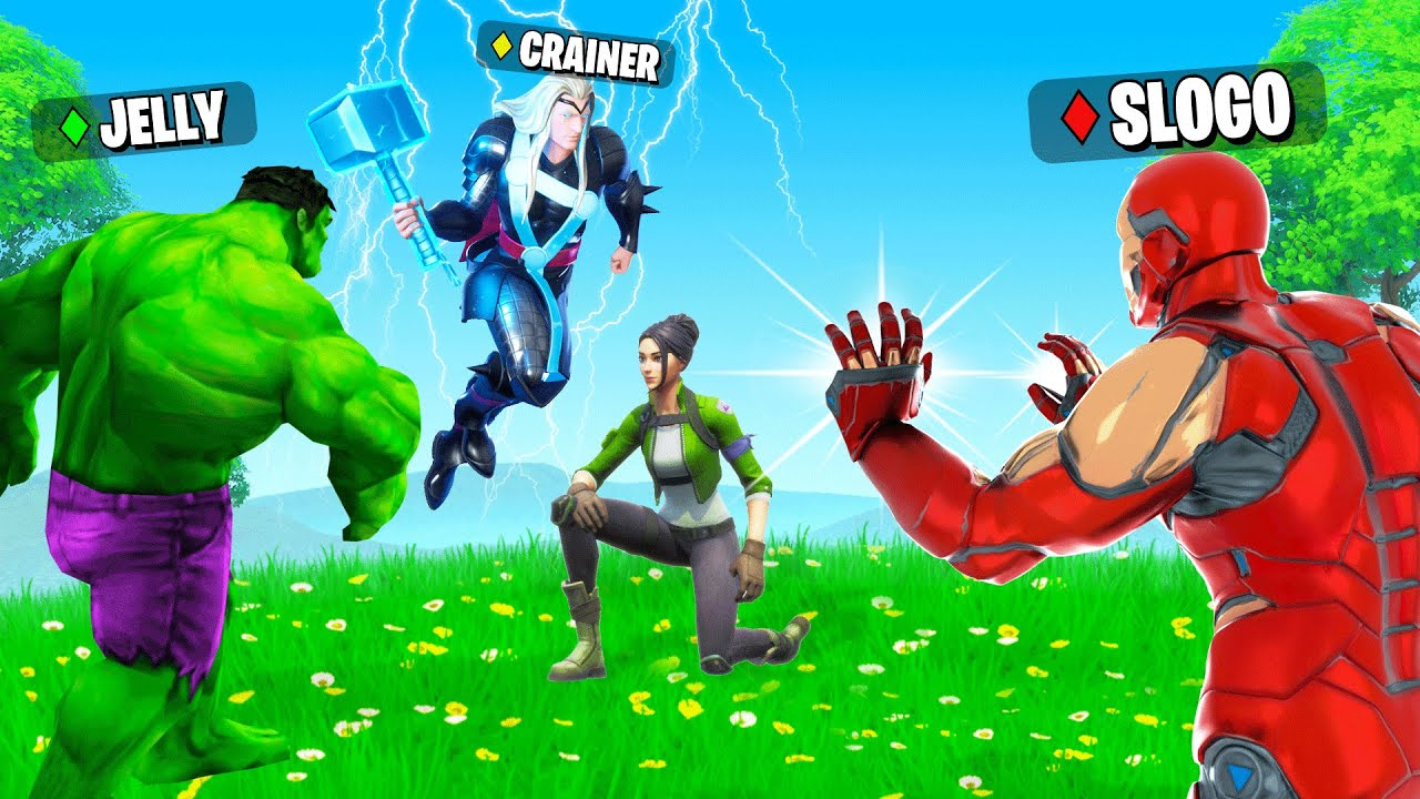Youtube Jelly Fortnite Winning In Fortnite With Only Superhero Weapons Overpowered Youtube