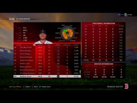 MLB The Show 16 Boston Red Sox 2016 Could This Roster Win Them The World Series