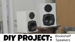 HOW TO: DIY - MINI HIFI BOOKSHELF SPEAKER BUILD!