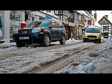 UK Snow - Live Stream - Tuesday 12th December 2017 It's freezing - Much Wenlock Tour