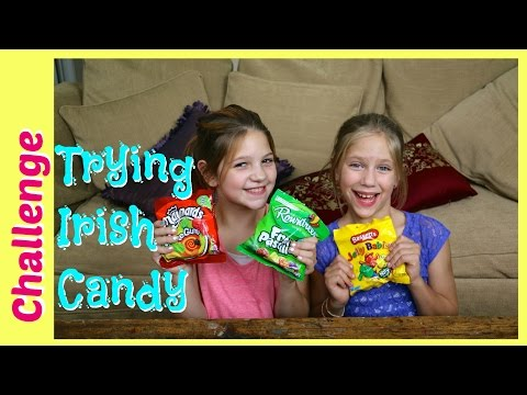American Girls Try Irish Candy Sweets & Giveaway   Tasting Sweets from Ireland   best friends