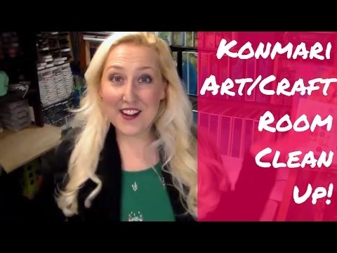 Craft/Art Room Declutter // Konmari Method