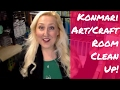 Craft/Art Room Declutter // Konmari Method