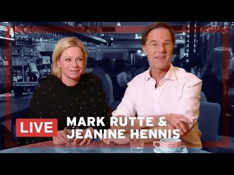 Mark Rutte en Jeanine Hennis LIVE op Facebook.