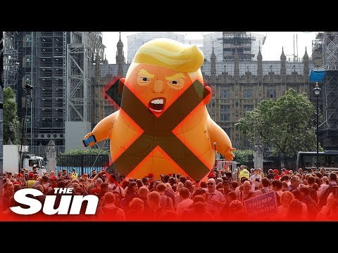 Chuck Nowlin - Trump Baby Blimp Stabbed In London!