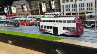 (HD) Model Blackpool Tram layout at the Model Tram Show 2/7/2016