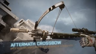 BF3 Aftermath Crossbow Gameplay! | How to unlock it | Patch 1.07 (PS3)