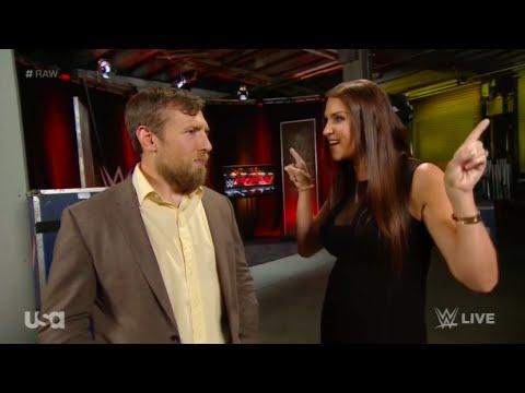 Stephanie McMahon & Daniel Bryan Backstage