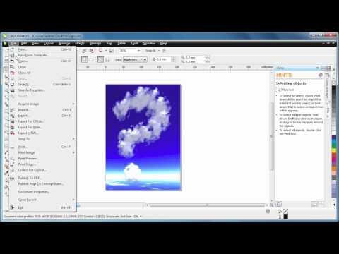 Convert CDR to PDF using CorelDRAW