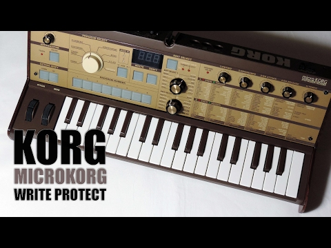 Korg MICROKORG write protect fonction ON/OFF TUTORIAL