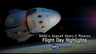 SpaceX DM-2 Flight Day Highlights - May 30, 2020