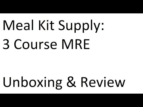 Meal Kit Supply: 3 Course Breakfast MRE Review