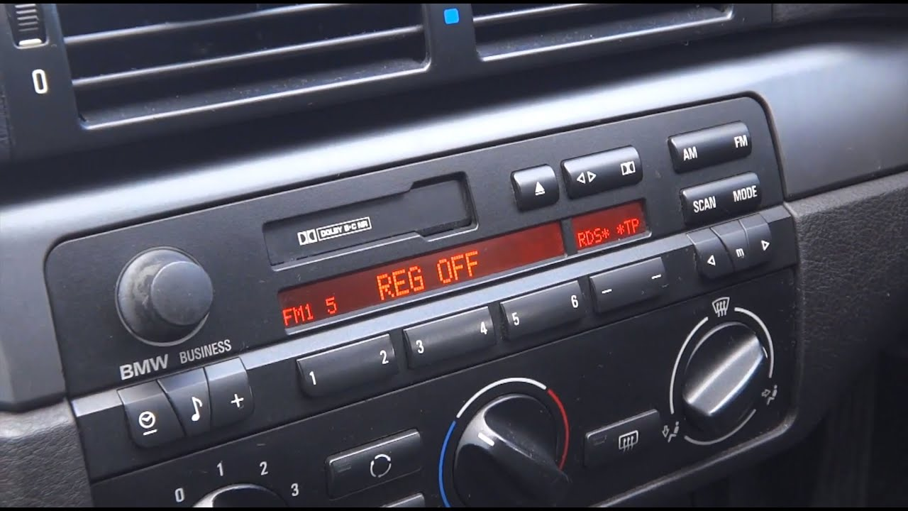 Bmw E46 3 Series How To Remove Radio Youtube