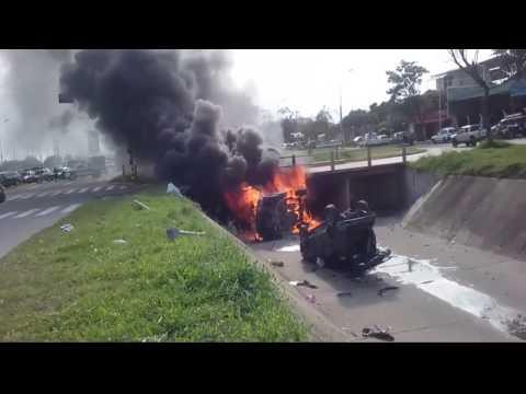 Grave accidente de tránsito en Santa cruz, Bolivia