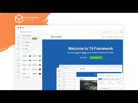 T4 Joomla Framework - Modern, Flexible And Highly Customizable Framework For Joomla