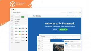 T4 Joomla Framework - Modern, flexible and highly customizable framework for Joomla
