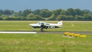 Grumman American AA-5B Tiger ► Landing and Trackback ✈ Groningen Airport Eelde