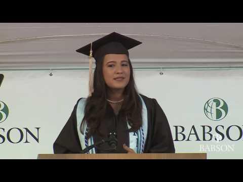 Babson College 2017 Undergraduate Student Speaker:  Stela Maksutaj