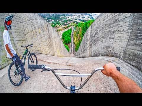 INSANE BMX VS MTB HILLBOMB RACE!