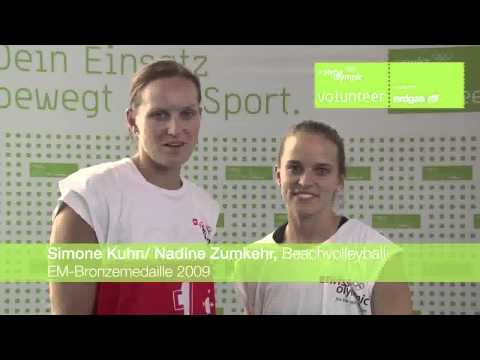 Swiss Olympic Volunteer Danke Aktion 2011 Simone Kuhn / Nadine Zumkehr