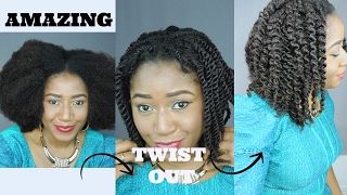 BEFORE OR AFTER? HEATLESS TWIST OUT ON U PART WIG || HERGIVENHAIR