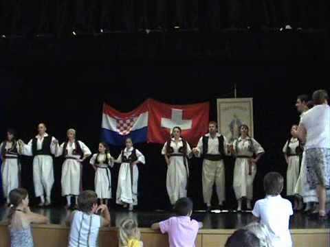 Folklorna skupina Duga Pfäffikon - 1. nastup 24.06.2007
