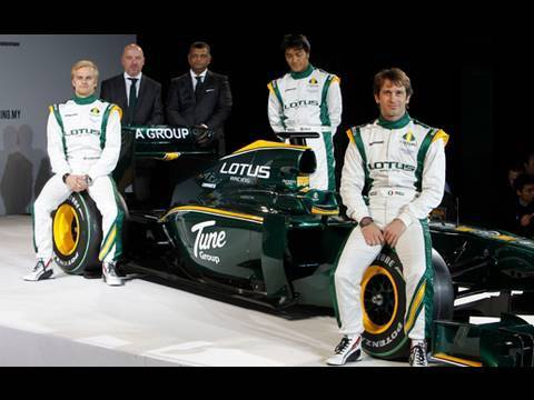 F1 Lotus Racing Team Presentation