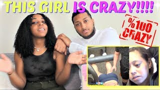 THIS GIRL IS SO CRAZY : TO CATCH A CHEATER REACTION!!!!