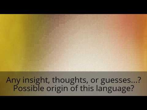 Linguist: Language Spoken, Ancient? - Akkadian, Sumerian, Viking, Paranormal origin? Xenoglossy?