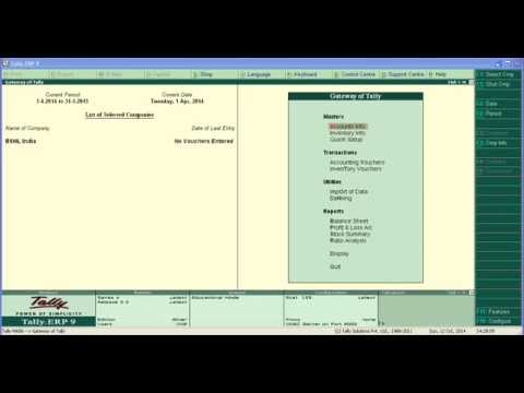 Service Tax In tally ERP 9 in Hindi Part 01