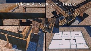 Fundação - Veja como fazer o Gabarito, Sapata e Baldrame ou Alicerce de uma Casa
