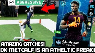 DK METCALF IS AN ATHLETIC BEAST! AMAZING CATCHES! Madden 20 Ultimate Team