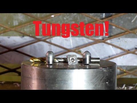 Can you crush tungsten bit with hydraulic press?