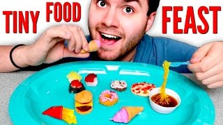 TINY FOOD FEAST - DIY Mini McDonalds, Ramen, Pizza, Sushi! HOW TO POPIN COOKIN