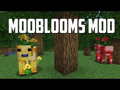 I ADDED the Moobloom into Minecraft! (Moobloom Mod)