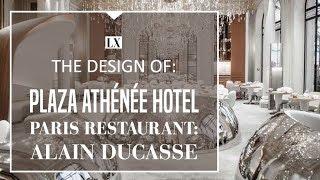 The Sparkling Design of Restaurant 'Alain Ducasse' of the Plaza Athénée Hotel Paris