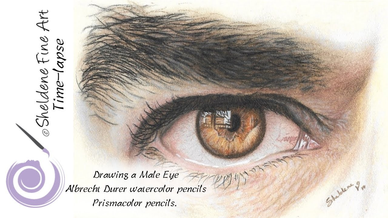 It is a photo of Lively Men Eyes Drawing