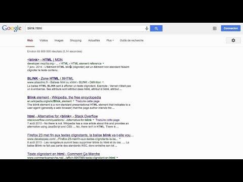Google trick(blink HTML)